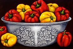 Artwork of Clive Biden exhibited at Robertson Art Gallery, specialists in the selling of original art of top South African Artists. South African Artists, Fruit And Veg, Kitchen Art, Art Drawings, Stencils, Art Gallery, Original Art, Stuffed Peppers, Vegetables