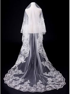 Wedding Veils - $38.99 - One-tier Cathedral Bridal Veils With Lace Applique Edge  http://www.dressfirst.com/One-Tier-Cathedral-Bridal-Veils-With-Lace-Applique-Edge-006031064-g31064