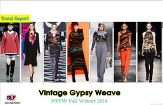 Vintage Gypsy Weave #Fashion Trend for Fall Winter 2014 #Fall2014 #Fall2014Trends #FashionTrends2014
