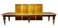 Antique Pollard oak extending dining table