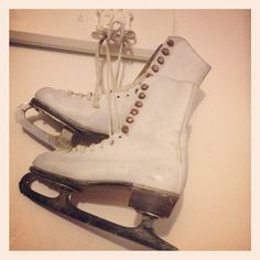 Vintage ice skates passed down from Anastasia's aunt. In the winter she uses them to go ice skating in Central Park.