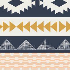 Modern Fabric by April Rhodes - Arizona - Arid Horizon for Art Gallery Fabrics Aztec Fabric, Fabric Art, Cotton Fabric, Quilting Fabric, Floral Fabric, Art Gallery Fabrics, Aztec Gold, Navy Gold, Fabric Factory