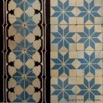14m2-16m2+ of antique Perrusson ceramic encaustic tiles - early 20th century - The Antique Floor Company