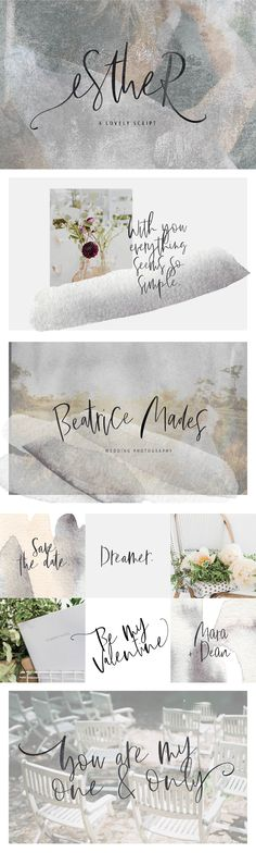 February 2018 Update: Just added 6 premade floral logo PSD templates for you to use within your brand and business :) Esther is a handwritten signature Best Fonts Free, Logo Psd, Script Fonts, Handwritten Fonts, Calligraphy Fonts, Art Calendar, Uppercase And Lowercase Letters, Floral Logo, Wedding Invitation Cards