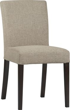 Lowe Khaki Side Chair  | Crate and Barrel. We have a %10 off and this goes with the ebony table :)