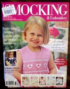 Australian Smocking and Embroidery Book Issue 76 comes with insert pattern #AustralianSmockingandEmbroidery