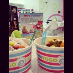 "Yogo Choice @niuskayolo's photo: ""#yogochoice #olabezinsta #fruits #cream #fun #we'r fat #yummy"""