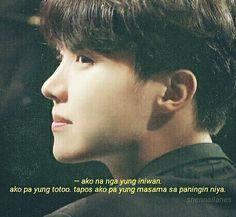 Sad Crush Quotes, English Memes, Bts Quotes, Tagalog, Bts Edits, Bts Boys, Jung Hoseok, Funny Faces, Clear Skin