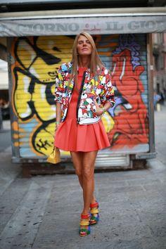 Anna Dello Russo, Milan Fashion Week Spring 2014 Street Style #MFW #Anna