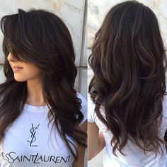 50 Cute and Effortless Long Layered Haircuts with Bangs Layered Cut With Long Side Bangs Layered Haircuts With Bangs, Long Layered Hair With Side Bangs, Long Hair Short Layers, Hair Layers, Side Bangs Long Hair, Cut Bangs, Thick Side Bangs, Hair Cuts For Long Hair With Bangs, Haircut Long Hair
