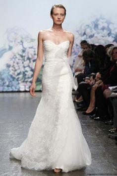 Monique Lhuillier Emma Lace Sweetheart Fit & Flare Wedding Dress Front