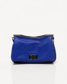 Leather-Like Flapover Purse #electricblue