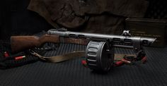 Combat Shotgun from Fallout 3, these are based on the PPsh SMG. I will make one of these and it will be awesome.