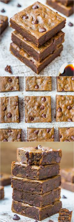 Soft and Chewy Gingerbread Molasses Chocolate Chip Bars - Rich, chocolaty, and like eating a piece of molasses fudge!