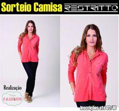 Sorteio de uma linda camisa feminina da Restritto no Tempo Fashion, participe!