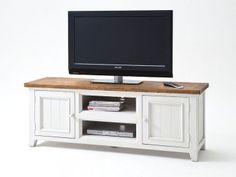 Biała szafka RTV drewniana Alice 1