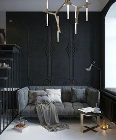 deco style industriel studio couleur tendance peinture murale