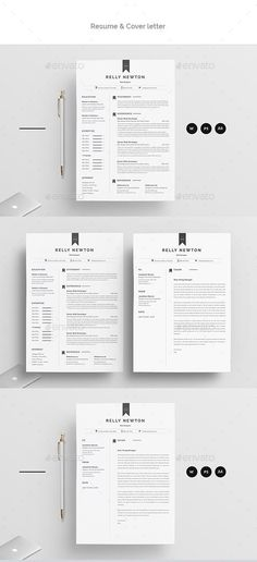 Resume Template PSD, Vector EPS, MS Word Download - 300 DPI, CMYK