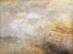 Joseph Mallord William Turner, 'Stormy Sea with Dolphins' c.1835-40