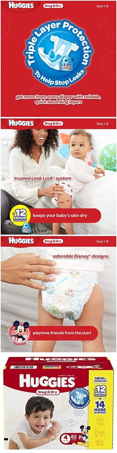 Huggies Snug & Dry Diapers Size 4 - 82 CT