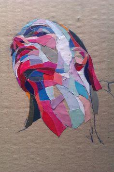 """Saatchi Art Artist: Dimosthenis Prodromou; Paper 2012 Collage """"Niki (SOLD)"""""""