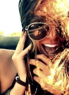 2ab8c686170 Summer laughter summer light beach glasses girl sun smile Cheap Ray Bans