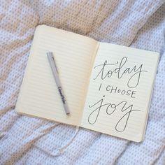 'Today I Choose Joy' inspirational quote by POPPYjack Shop