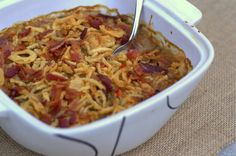 Traeger Thanksgiving: Classic Green Bean Casserole with BACON