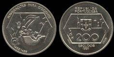 200$00 na Moeda Portuguesa - Escudos #moedas #coin #Portugal