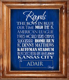 Kansas City Royals The Boys in Blue! <3
