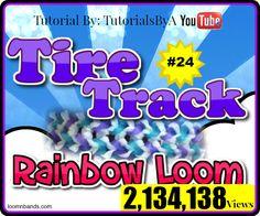 Rainbow Loom #24 Tire Track Bracelet By TutorialsByA