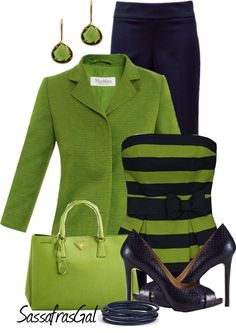 """""""Lime & Navy"""" by sassafrasgal on Polyvore"""