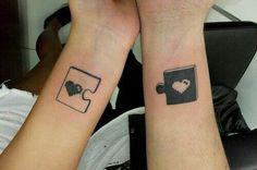 Rimozione tatuaggio di coppia?  #puzzle #puzzletattoo #tatuaggiodicoppia #coupletattoo #tattoos #ink #inkmet #heart #love