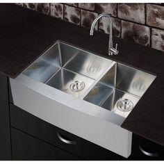 """dCOR design Newland 36"""" x 21"""" Farmhouse Apron Kitchen Sink"""