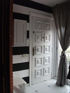 Entry, black and white, stripes Ikea Hackers, Armoire, Stripes, Black And White, Inspiration, Furniture, Home Decor, Clothes Stand, Biblical Inspiration