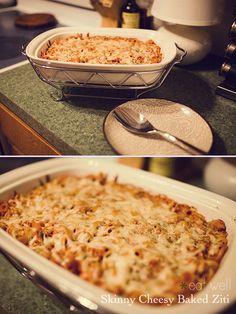 skinny cheesy baked ziti