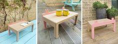 """Mini table for kid, birch plywood, """"CRABE PINCE"""", petite table basse pour enfant avec forme des pinces de crabes, 집게집게 어린이 미니 티테이블 바나나요크 디자인 bananayolk.com"""