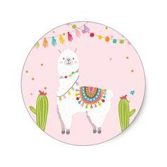 Llama Sticker Llama birthday Alpaca Fiesta Mexican | Zazzle.com