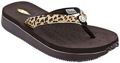 Volatile Keralee 2 Women's Sandal (Tan Leopard) These are cute but I can't stand anything between my toes :/