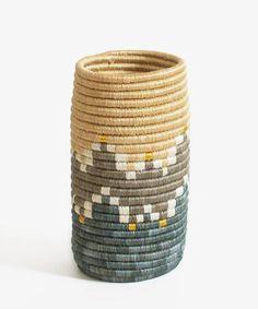 Mirage Sisal Vase | Bohemian decor | African baskets | Boho decor | Hostess gifts | Housewarming Gifts | Flower Vase | Kitchen utensil holder | Wine holder