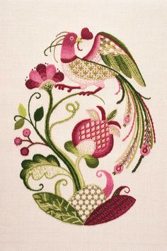 Jacobean Crewelwork by Certificate RSN Student Madoka Sawa