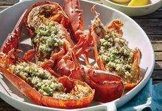 D'inspiration surf and turf, ce savoureux menu 100 % barbecue soulignera en… Barbecue, Menu, Parmesan, Shrimp, Seafood, Tacos, Cooking, Ethnic Recipes, Hummer