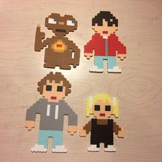 E.T. movie characters perler beads by Angela