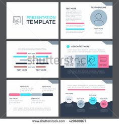 Set Of Infographic Presentation Concept Of Business And Marketing - Marketing layout templates