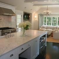 West End Cabinet Company - kitchens - open floor plan, open floor plan kitchen, kitchen family room, open kitchen family room, vaulted ceili...