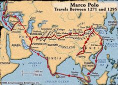 The year was The Italian explorer Marco Polo had just arrived in Xanadu, the summer-capital of Kublai Khan's vast empire. Marco Polo and his companions were astounded at the wealth and culture of the Eastern peoples. Polo's entourage. History Of India, Asian History, World History, Ancient History, Marco Polo Explorer, Kublai Khan, Medieval, Travel Route, Mystery Of History
