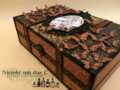 My vintage box, Botanicabella, Tutorial by Nico Scrap, Product by Graphic 45