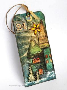 Tag Wigilijny - Christmas Eve Tag by finnabair, via Flickr