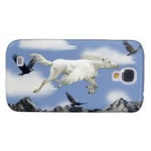 Flying Pegasus, Mountains and Eagles Fantasy Art Samsung Galaxy S4 Covers