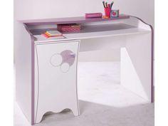 Bureau tiroir porte blanc rose indien l xp xh cm